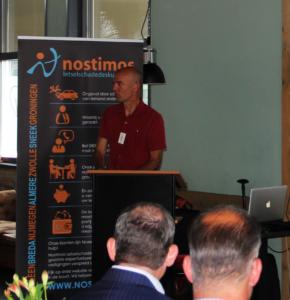Ed Bijman aan het woord tijdens bijeenkomst voor tussenpersonen georganiseerd door Nostimos Letselschade