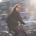 Foto van snelle fietser