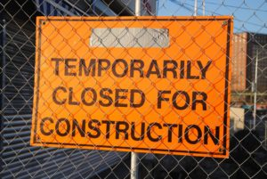 Bord closed for construction