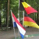 Drielanden-casus vlaggen Nederland België Duitsland